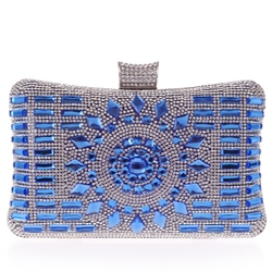 Shoespie Trendy Rhinestone Appliqued Clutch