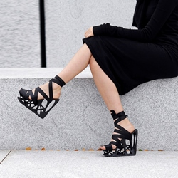 Shoespie Unique Laceup Wedge Sandals