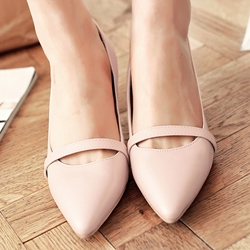 Shoespie Chic Plain Low Heels