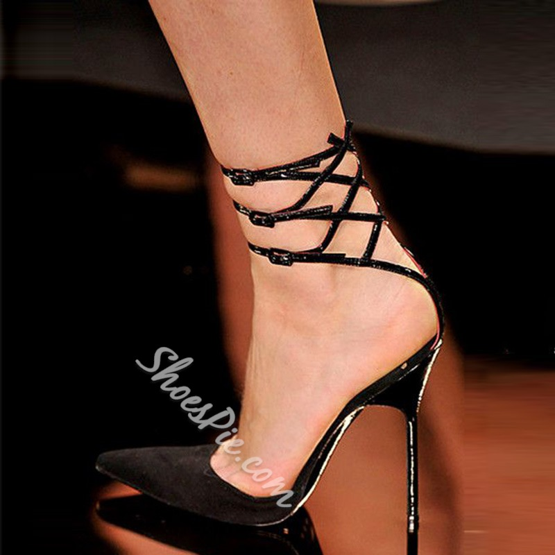 Shoespie Sexy Black Pointed Toe Stiletto Heels