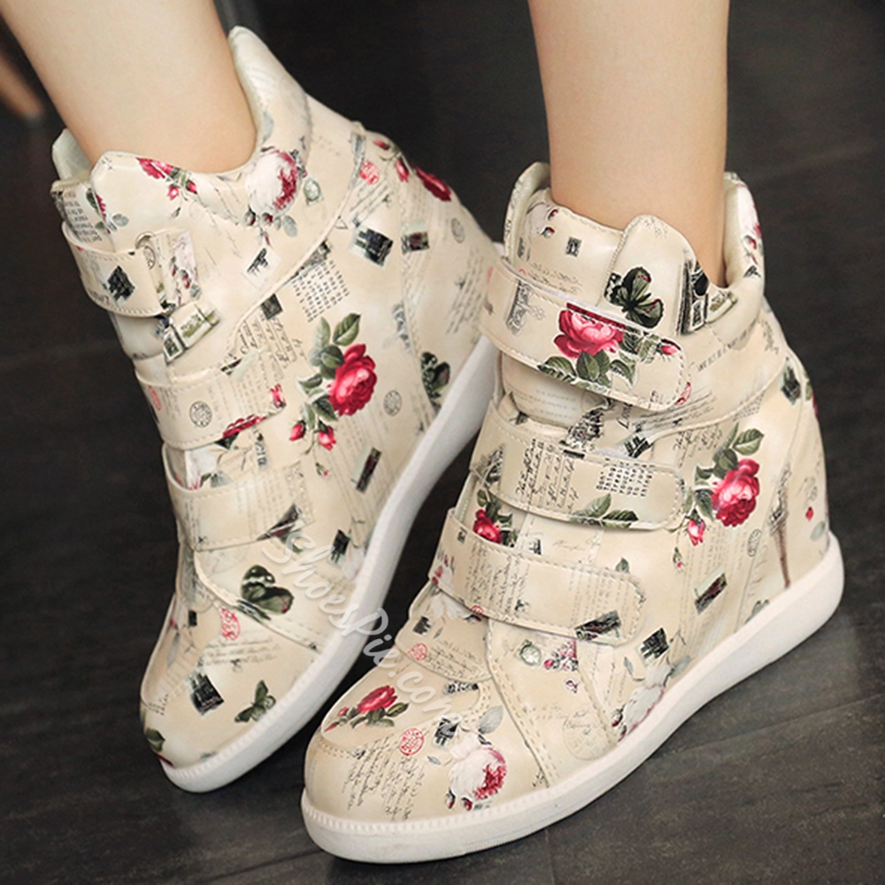 Shoespie Casual Hidden Wedge Heel Sneakers
