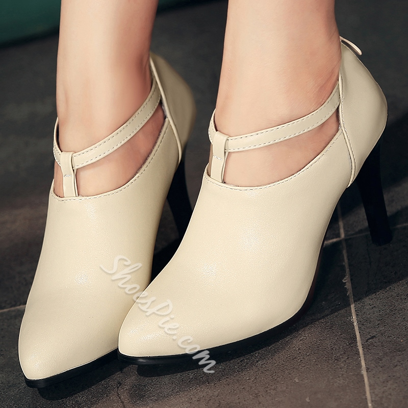 Shoespie Chic Solid Color Pointed Toe Stiletto Heels