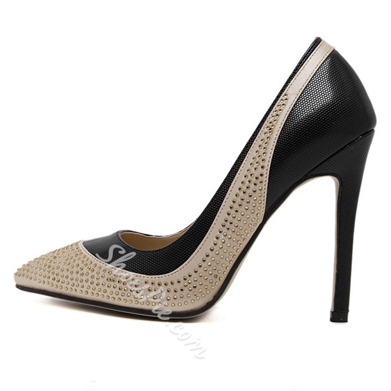 Shoespie Street Style Rivets Stiletto Heels