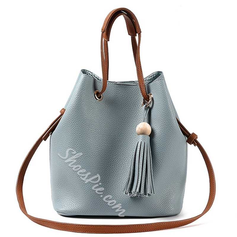 Shoespie Chic Fringe Embellished Tote