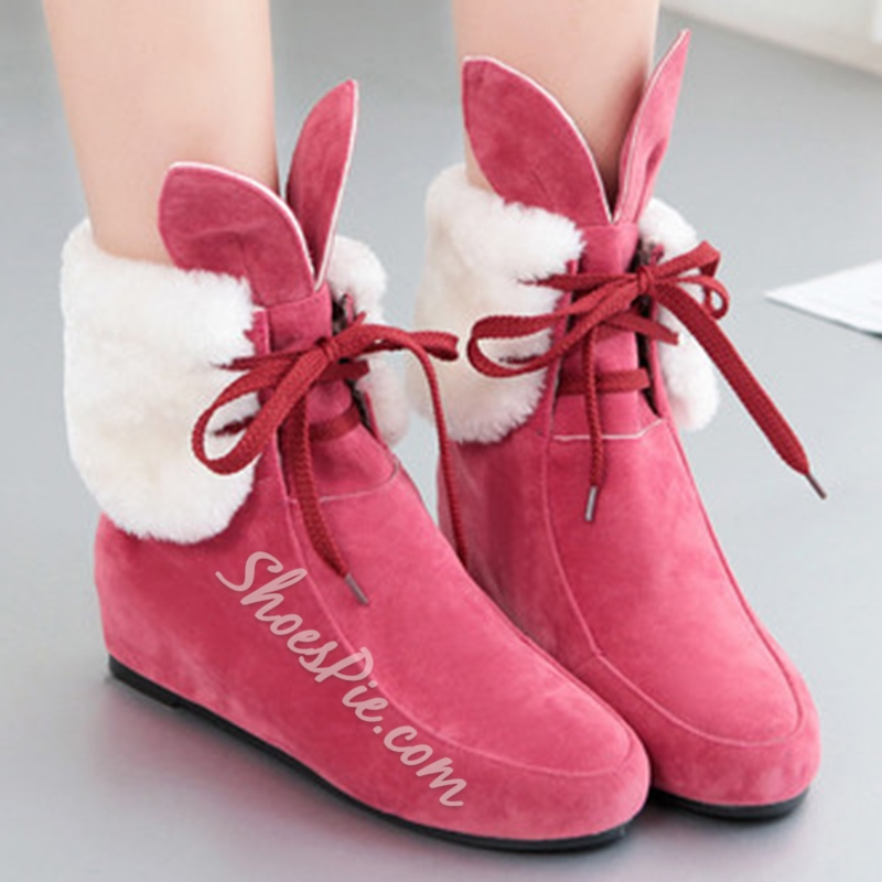 Shoespie Lace-Up Fashion Snow Boots