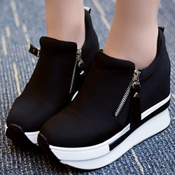 Shoespie Side Zipper Platform Sneakers