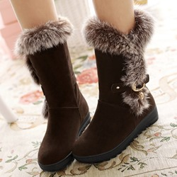 Shoespie Winter Furry Flat Boots