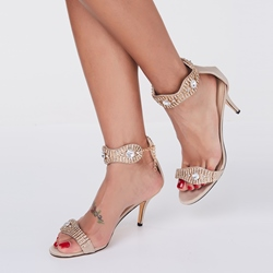Shoespie Classic Rhinestone Dress Sandals