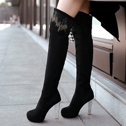 Shoespie Chic Soft Leather Knee High Boots