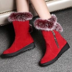 Shoespie Winter Warm Furry Flat Boots