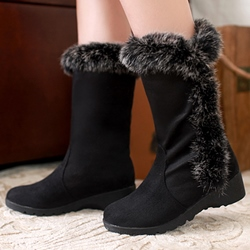Shoespie Winter Warm Faux-Fur Snow Boots