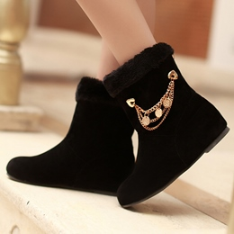 Shoespie Round Toe Warm Flat Snow Boots