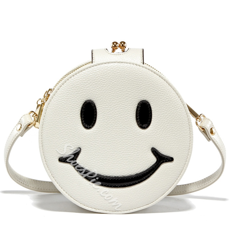 Shoespie Smile Face Print Crossbody Bag