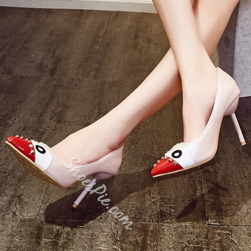 Shoespie Trendy Cartoon Print Stiletto Heels