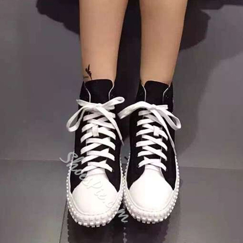 Shoespie Fashionable Street Style High Upper Canvas Shoes