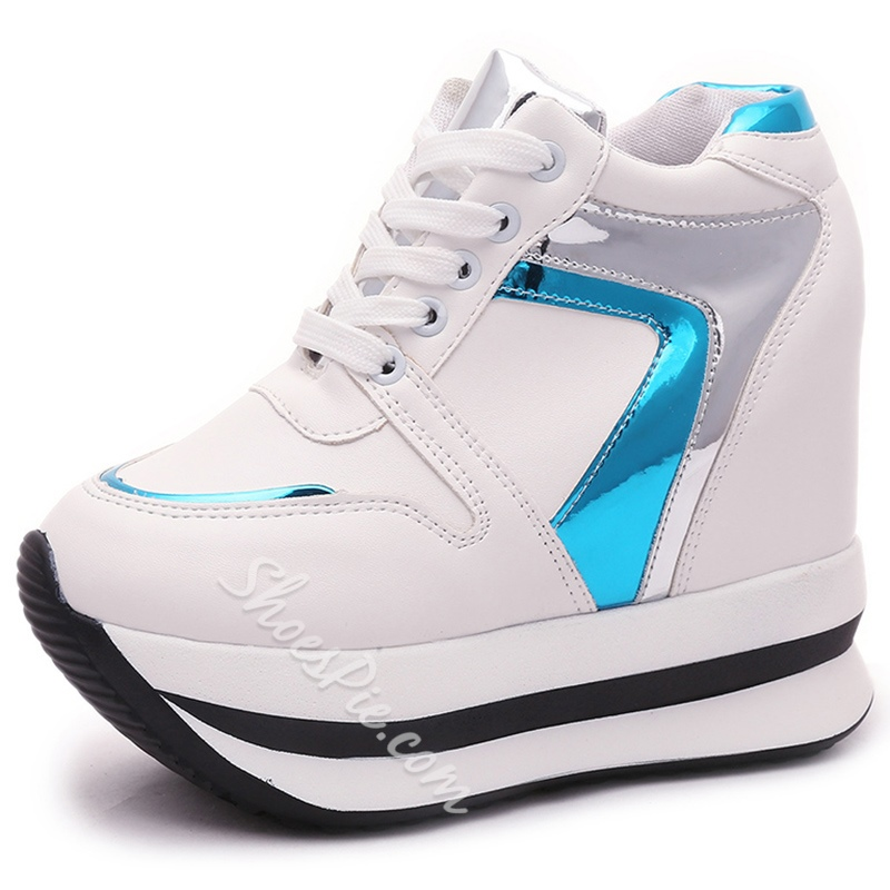 Shoespie Color Block Platform Sneakers