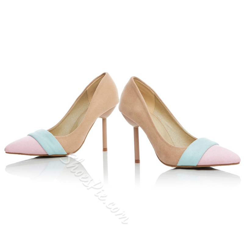 Shoespie Classy Color Block Court Shoes