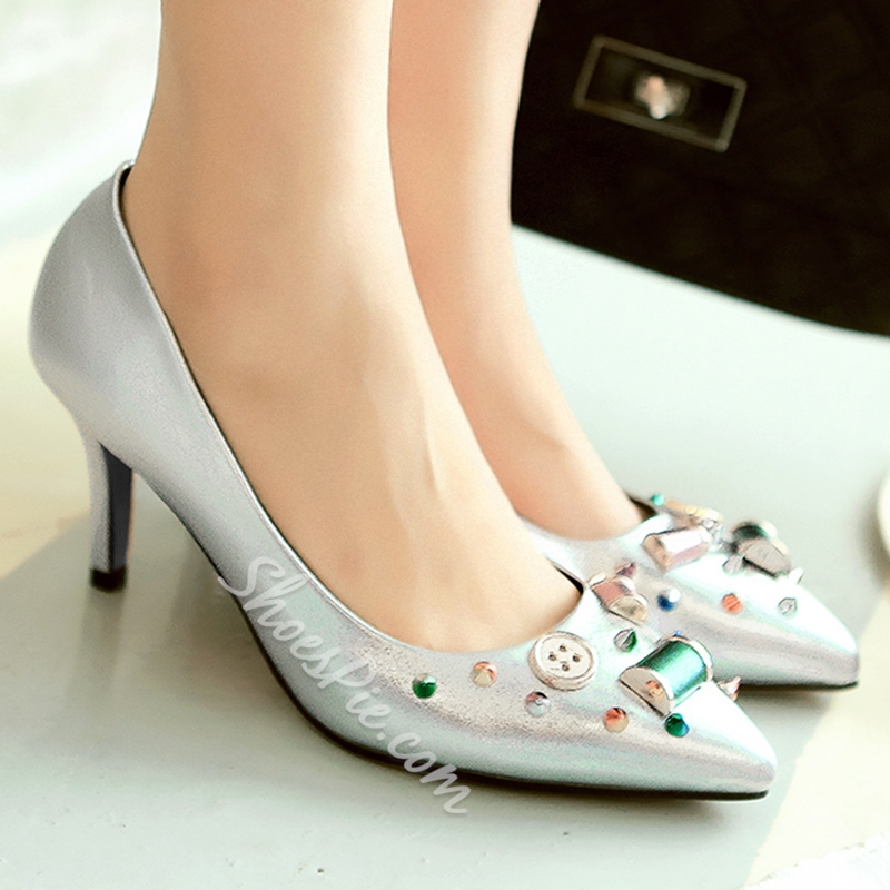 Shoespie Chic Candy Color Kitten Heel Pumps