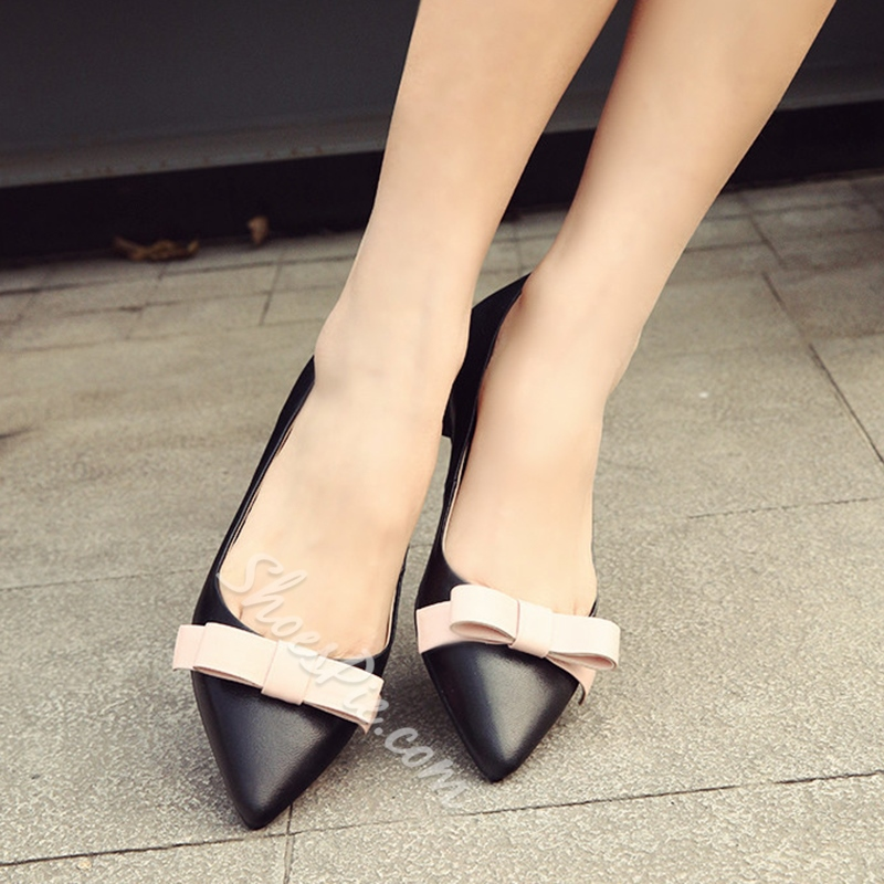 Shoespie Sweet Bow Knot Loafers