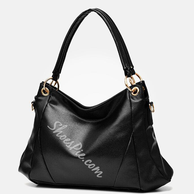 Shoespie Chic Plain High-Capacity Handbag