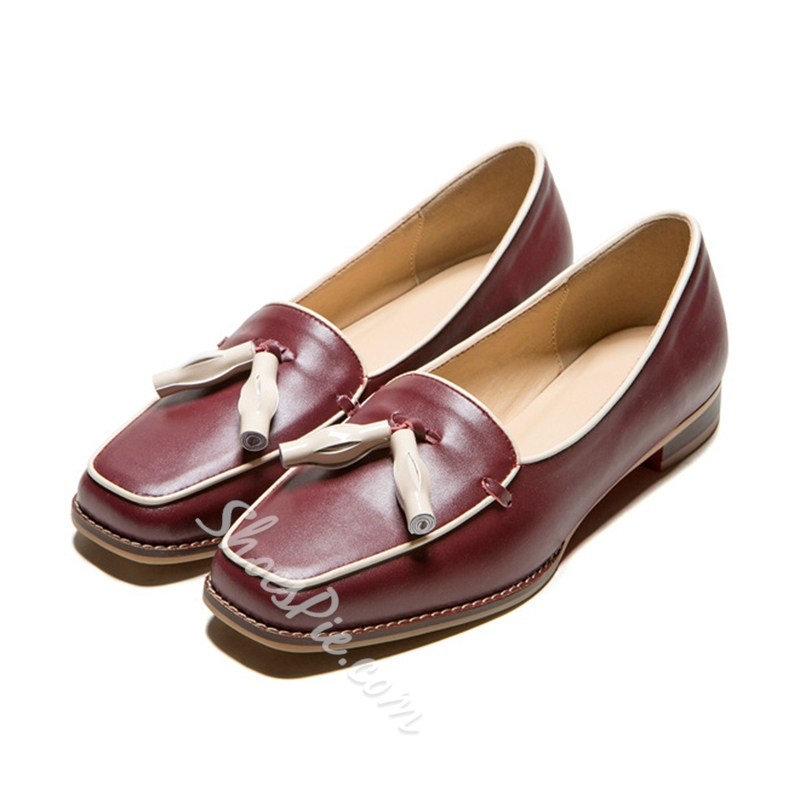 Shoespie Awesome Fringe Embellished Loafers