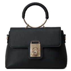 Shoespie Chic Hoop Grip Handbag