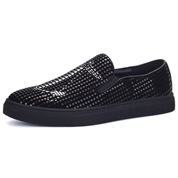 Shoespie Sequin Anchors Men's Sneakers