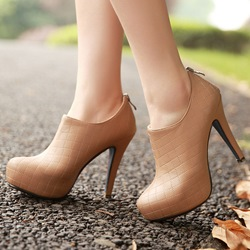 Shoespie Casual Closed Toe Platform Ankle Boots