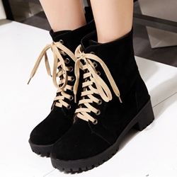 Shoespie Nubuck Lace Up Martin Boots
