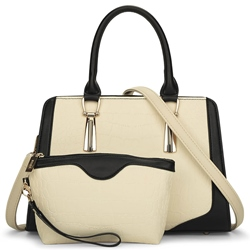 Shoespie Multi-functional Contrast Color Handbag