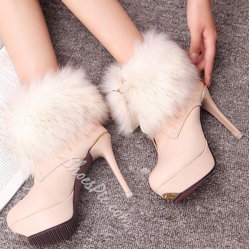 Shoespie New Winter Faux Fur Platform Ankle Boots