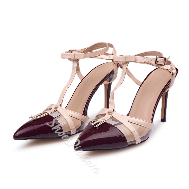 Shoespie Elegant Bowtie Knot Stiletto Heel Court Shoes