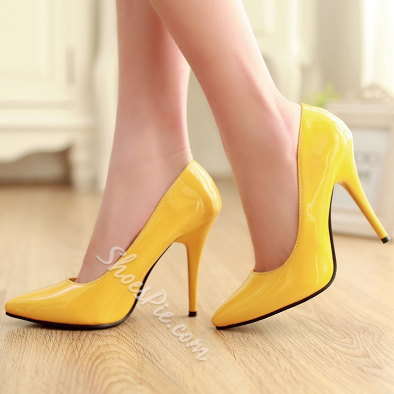 Shoespie Street Style Solid Color Stiletto Heels