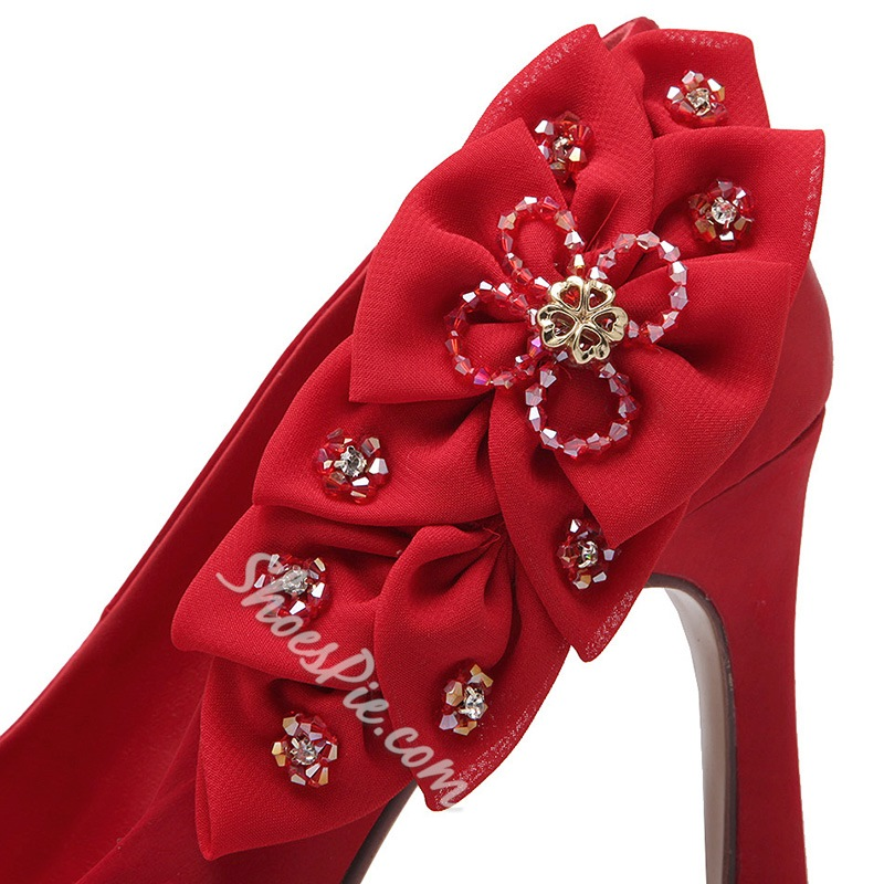 Shoespie Chic Falbala Embellished Stiletto Heels