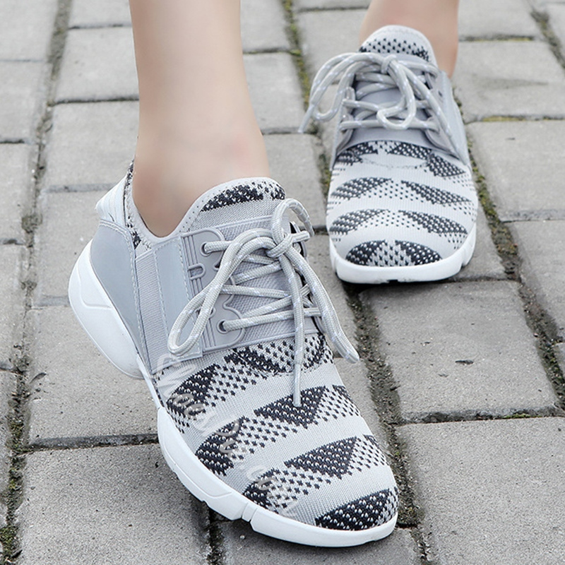 Shoespie Knit Vamp Sneakers