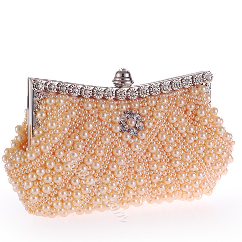 Shoespie Elegant All Over Bead Banquet Clutch