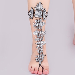 Shoespie Single Rhinestone Anklet