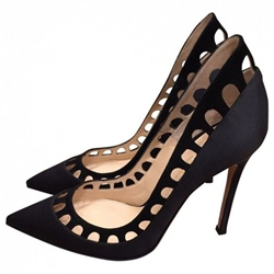 Shoespie Black Hollow Out Stiletto Heels
