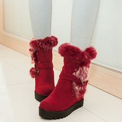 Shoespie Nubuck Shearling Snow Boots