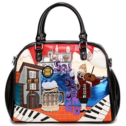 Shoespie Cartoon Print Medium Hobo Bag