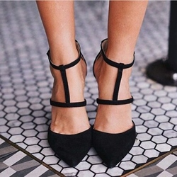 Shoespie Nubuck Cut Out Stiletto Heels
