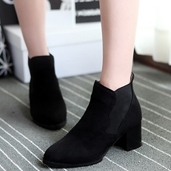 Shoespie Nubuck Solid Color Ankle Boots
