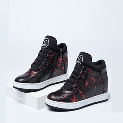 Shoespie Fashion Contrast Side Zipper Sneaker