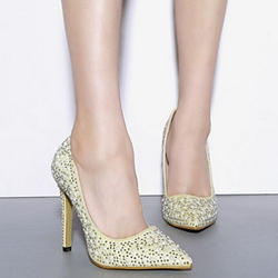 Shoespie Sequine Appliqued Stiletto Heels
