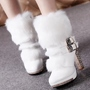 Shoespie Round Toe Side Zipper Furry Ankle Boots