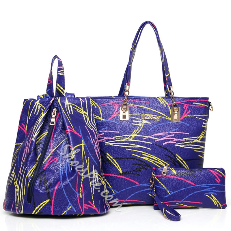 Shoespie Creative Print Leather Bag Sets