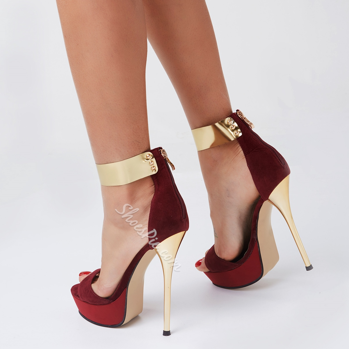 Metal Ankle Wrap High Stiletto Heel Dress Sandals