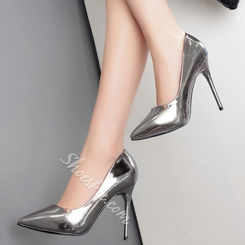 Shoespie Glossy Patent Stiletto Heels