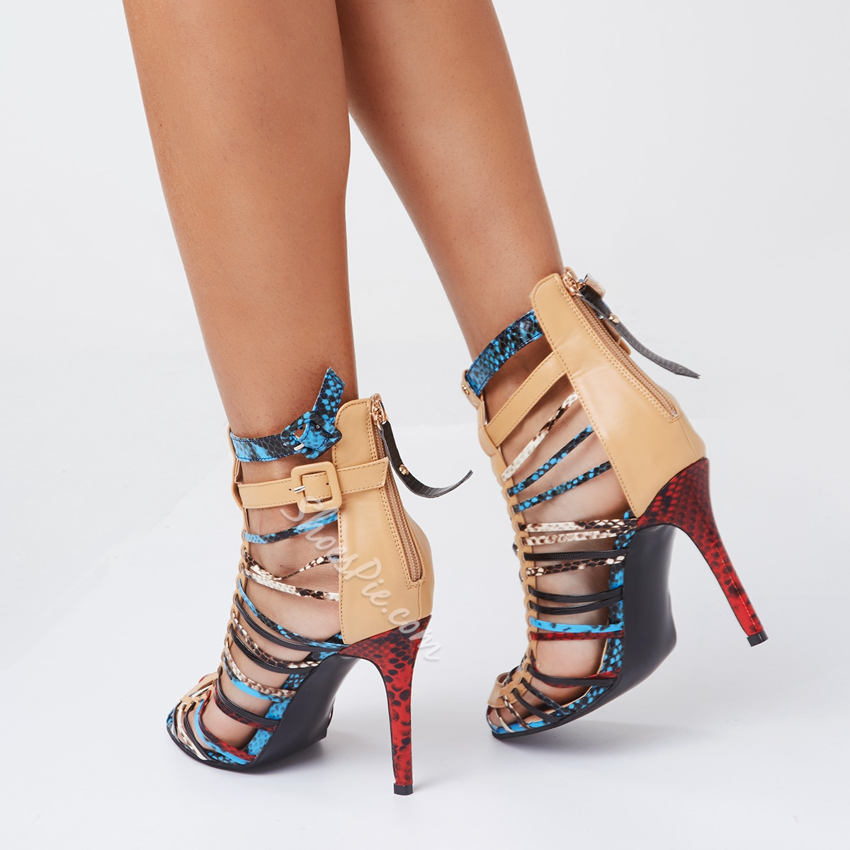 Shoespie Street Style String Shape Stiletto Heel Sandals