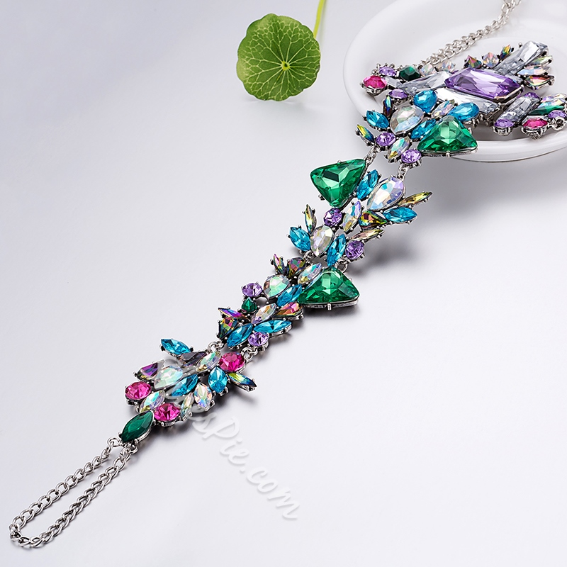 Shoespie Single Green Rhinestone Anklet